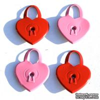 Набор люверсов Eyelet Outlet - Heart Lock Quicklets, 12 штук - ScrapUA.com