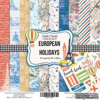 Набор скрапбумаги European Holidays, 20x20см, Фабрика Декору