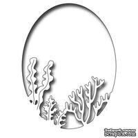 Лезвие Frantic Stamper Precision Die - Coral And Seaweed Oval