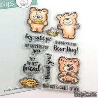 Набор штампов Gerda Steiner - More than Pie with Cute Bear and Pie 4x6 Clear Stamp Set