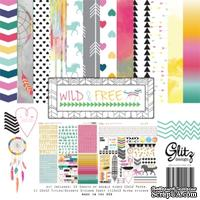 Набор бумаги от Glitz Design - Wild&Free - Collection Pack, 30х30 см