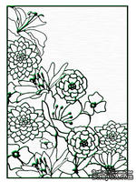 Папки для тиснения Nellie Snellen Embossing Folder - Flower Corner 1