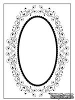 Папки для тиснения Nellie Snellen Embossing Folder - Oval Frame 1
