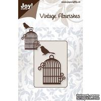 Лезвие Joy! Crafts Vintage Flourish Dies - Bird Cage - Клетка для птиц