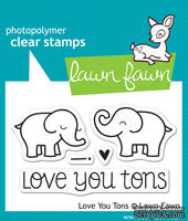 Штампы от Lawn Fawn Clear Stamps - Love You Tons - Любимые слоники