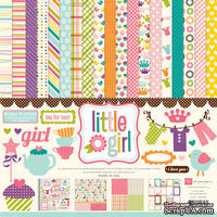 Набор бумаги от Echo Park Paper Co - Little Girl Collection Kit , 30x30 - ScrapUA.com