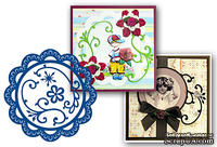 Набор лезвий Marianne Design Creatables - Scallop Circle Frame & Flowers