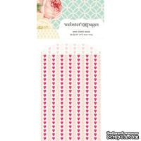 Конвертик Webster's Pages - Bulk Mini Bag Hearts: Pink, размер 10х7 см, 1 шт.