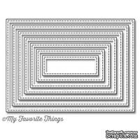 Лезвие My Favorite Things - Die-namics Stitched Rectangle STAX, 7 шт.