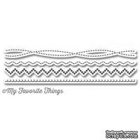 Лезвие My Favorite Things - Die-namics Homespun Stitch Lines, 4 шт.