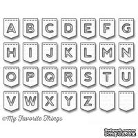 Лезвие My Favorite Things - Die-namics LLD Stitched Banner Alphabet