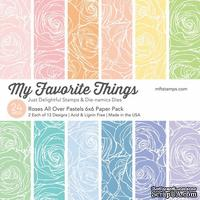 Набор бумаги My Favorite Things - Roses All Over Pastels Paper Pack, размер 15х15 см, 24 листа. - ScrapUA.com