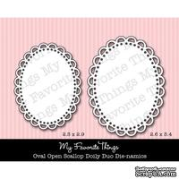 Набор лезвий My Favorite Things - Die-namics Oval Open Scallop Doily Duo
