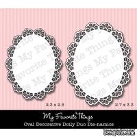 Набор лезвий My Favorite Things - Die-namics Oval Decorative Doily Duo