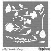 Маска My Favorite Things - Stencil LJD Wildflowers, 15х15 см (MFT-ST-35) - ScrapUA.com