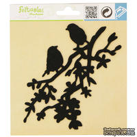 Фетровое украшение от Feltables Fashion - Silhouettes Lovebird Branch, 1 шт