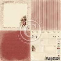 Лист односторонней бумаги от Pion Design - Waiting for Santa II Collection - Single Sided cardstock  -  6x Santa is Cominig