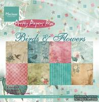 Набор бумаги Marianne Design - Marianne's Pretty Paper Bloc - Birds of Flowers, 15х15 см, 16 листов