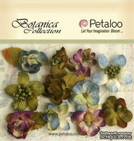 Набор объемных цветов Petaloo - Botanica Minis x 11 - Grey/Blue/Purple/Green - ScrapUA.com