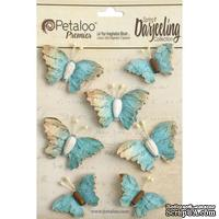 Набор бабочек Petaloo - Printed Darjeeling Collection - Wild Butterflies - Aqua