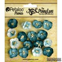 Набор цветов (незабудок) Petaloo - Penny Lane Collection - Forget me Nots - Teal - ScrapUA.com