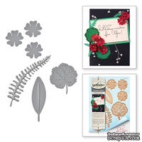Нож для вырубки от Spellbinders - Geraniums and Leaves - Герань
