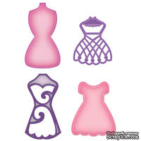 Лезвия от Spellbinders - Decorative Dress Forms - Манекены, 4 шт