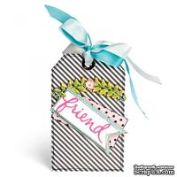 Лезвия Sizzix - Thinlits Die - Floral Arch and Words, 4 шт.