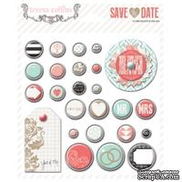 Брадсы Teresa Collins - Save the Date - Decorative Brads