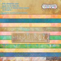 Набор бумаги от 7 DOTS STUDIO - Love Is In The Air - 6x6 pad, 15х15см - ScrapUA.com