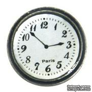 Украшение Часы Stanislaus - PARIS CLOCK, диаметр 1,2 см - ScrapUA.com