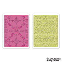 Набор папок для тиснения Sizzix - Textured Impressions Embossing Folders 2PK - Kaleidoscope Blooms Set, 2 шт.