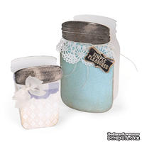 Ножи от Sizzix - ScoreBoards XL Die - Canning Jars, 3-D - Банки консервные, 3-D
