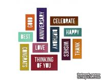 Ножи от Tim Holtz Alterations - Thinlits Die Set - Celebration Words - Block, 13 шт