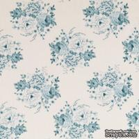 Ткань Tilda - Country Escape Mia Teal 100 % хлопок, 50х55 см