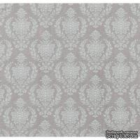 Ткань Tilda - Damask Warm Grey, коллекция  Sweet Christmas, 100 % хлопок, 50х55 см
