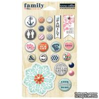 Брадсы Teresa Collins Designs - Family Stories - Decorative Brads