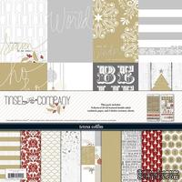 Набор бумаги и декора Teresa Collins - Tinsel and Company - Collection Pack, 30х30 см - ScrapUA.com