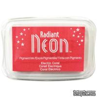 Чернила Tsukineko Radiant Neon Ink Pad - Electric Coral