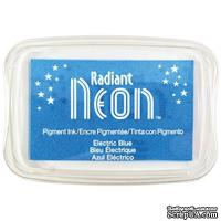 Чернила Tsukineko Radiant Neon Ink Pad - Electric Blue