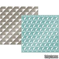 Набор папок для тиснения We R Memory Keepers - Next Level Embossing Folders - Geometric, 15х15 см, 2 шт.