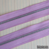 Тесьма с молнией Zipper Trim - Lilac Pink, цвет сиреневый, ширина 13 мм, длина 90 см