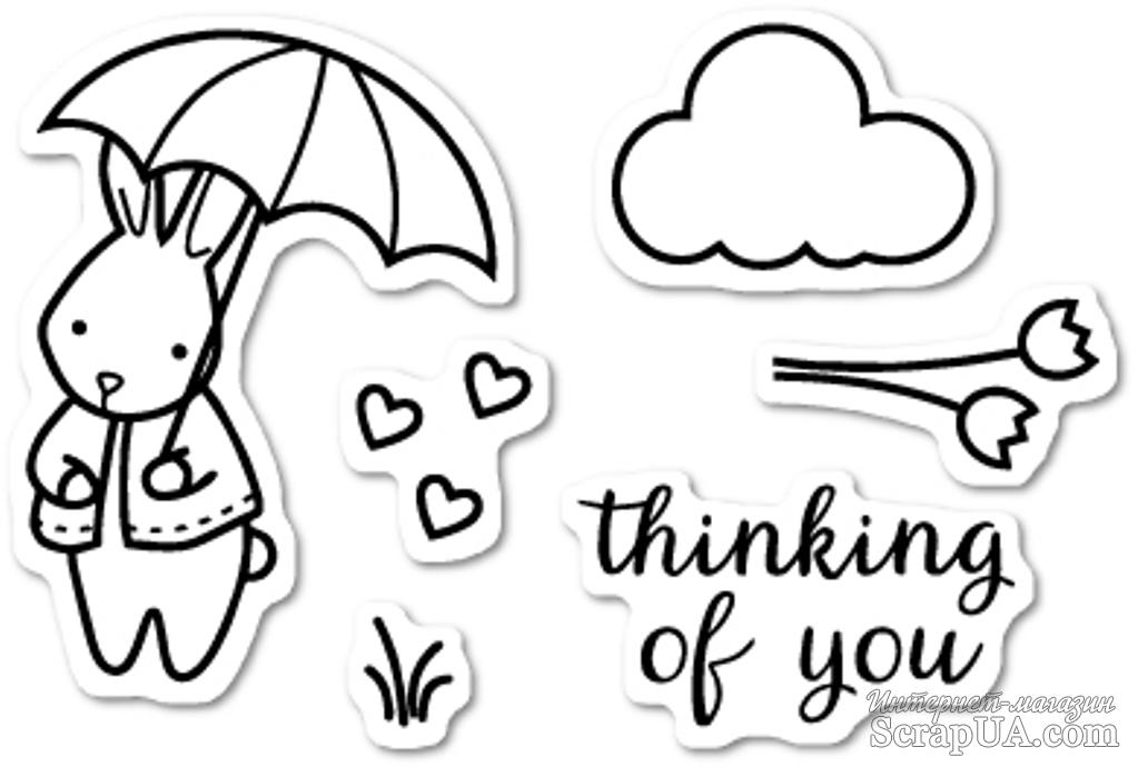 Штампы от Memory Box - Thoughtful Bunny clear stamp set