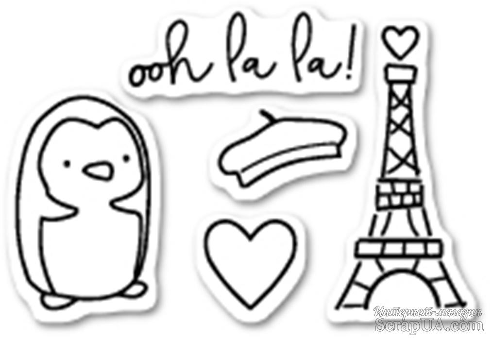 Штампы от Poppystamps - Ooh La La clear stamp set
