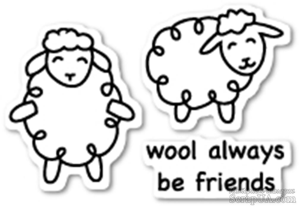 Штампы от Poppystamps - Wool Be Friends clear stamp set