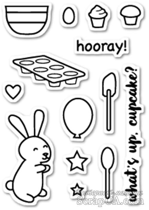 Штампы от Poppystamps - Cupcake Party clear stamp set