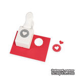Фигурный дырокол Martha Stewar Heart Seal Medium Double Punch - ScrapUA.com