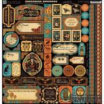 Наклейки Graphic 45 Steampunk Spells, 30х30 см