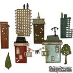 Ножи от Tim Holtz Alterations - Thinlits - Suburbia Cityscape - Die Set 34 Pack - ScrapUA.com