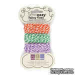 Набор шнурочков от We R Memory Keepers - Sew Easy Fancy Floss Bakers Twine - Secondary, 3 шт. - ScrapUA.com